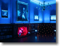 Blue Room at Orchardleigh House lit with Blue Lighting  to Bride & Grooms