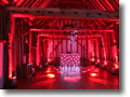 Your Wedding Disco - White DJ Booth with Red Lighting -  Haughley Park Barn, Stowmarket, near Ipswich